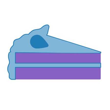 slice of cake Иллюстрация