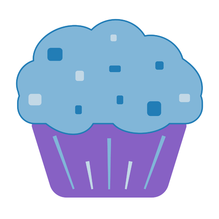 baked muffin Иллюстрация
