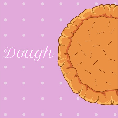 vector pastry dough for pizza or pie culinary recipes Illustration