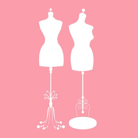 vintage tailor's mannequin for female body Ilustracja