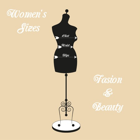 vintage tailors mannequin for female body Vector