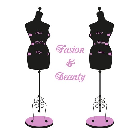 display size: vintage tailors mannequin for female body