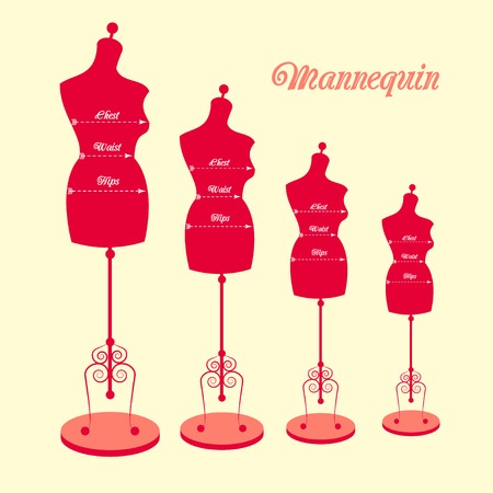 vector vintage tailor s mannequin for female body Vector