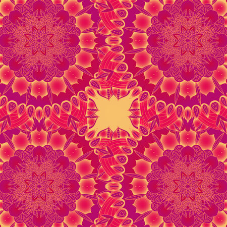 vector delicate red lace round mandala pattern Vector
