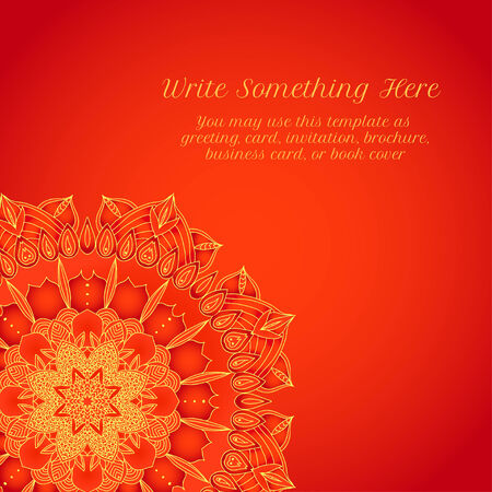 vector delicate lace round mandala pattern Vector