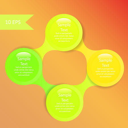 metaball colorful round diagram infographics for presentations Vector