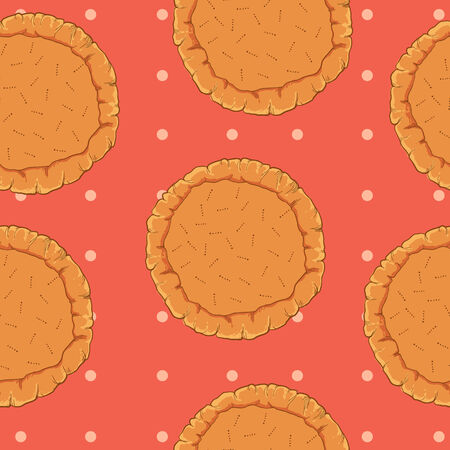 puff pastry: vector pastry dough seamless pattern for pizza or pie culinary recipes Illustration