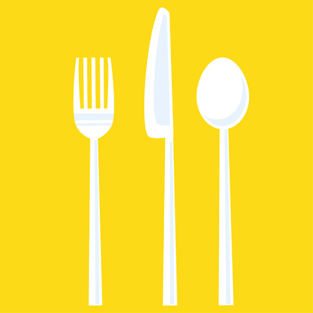 tableware set of fork, spoon, knife Vector