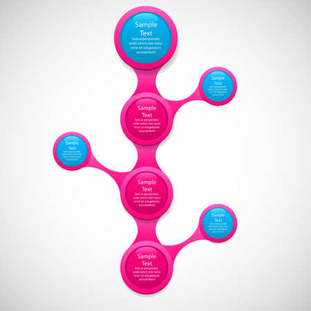 metaball colorful round diagram infographics for presentations