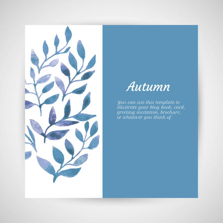 vector autumn watercolor leaf pattern Vector