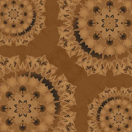 delicate: vector delicate lace round mandala pattern