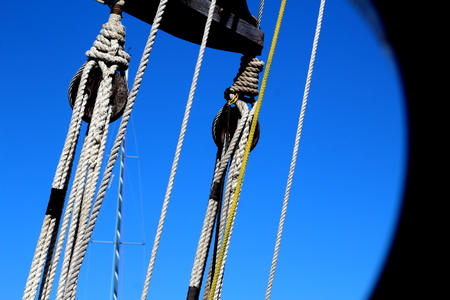 The mast seen from below deck