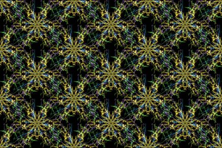 Abstract graphic pattern. Seamless tile background. Silk symmetry seamless pattern series. Stock Photo