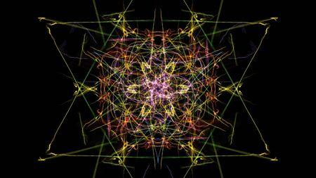 Glowing abstract dark background. Silk symmetry series.