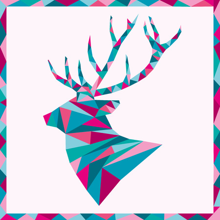Abstract elk on plain background.