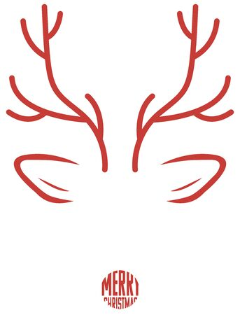 abstract deer in red Ilustracja