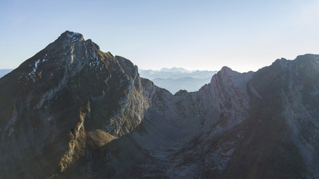 the famous Churfirsten in Switzerland