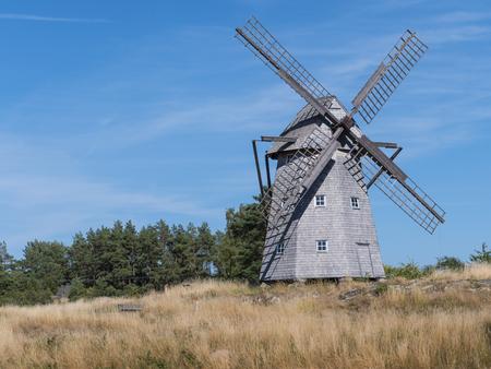 very old windmill in the countryside Zdjęcie Seryjne