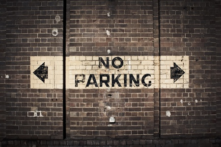 residential street: No Parking Stock Photo