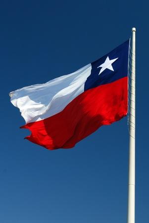bandera de chile: la bandera de Chile Foto de archivo