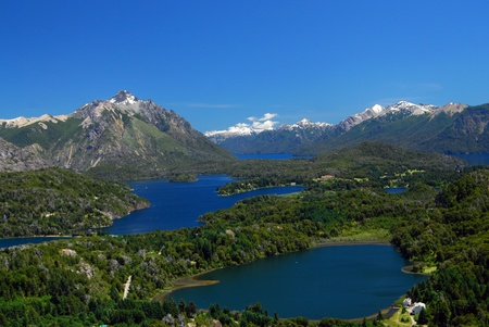 patagonia: landscape from bariloche, argentina Stock Photo