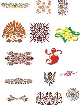 Vintage patterns for design Stock Vector - 3364123