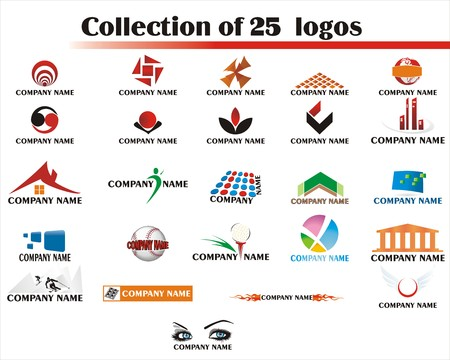 Collection of 25 logo elements  Stock Vector - 3536985