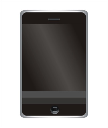 A vector model of an mobile multifunctional phone. Stock Vector - 3584682