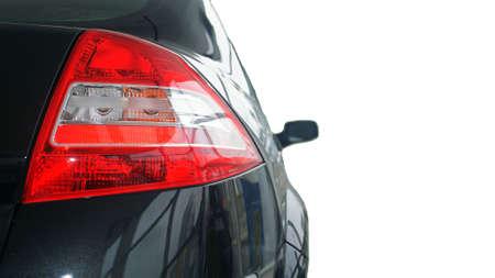 Volver coche luz aislados en el fondo blanco