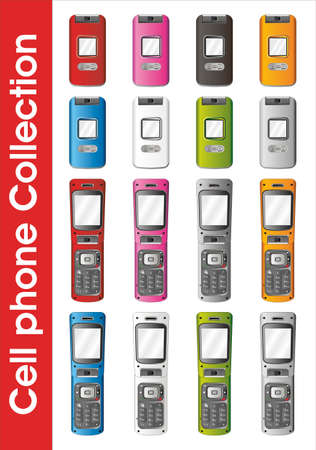 Cell phone collection Stock Vector - 3769979