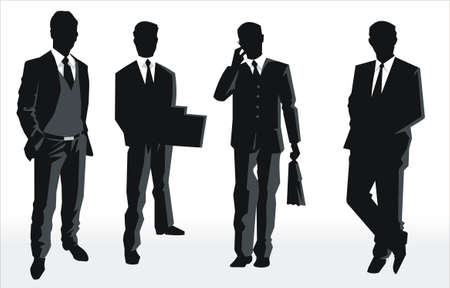 Silhouette vector of business people