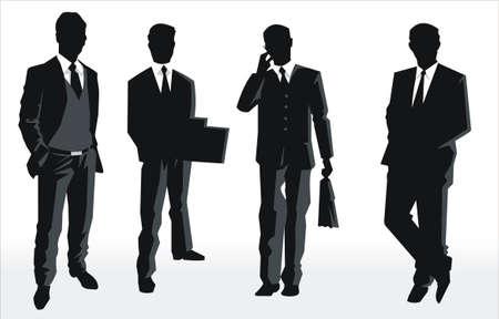Vector Silhouette de personas de negocios