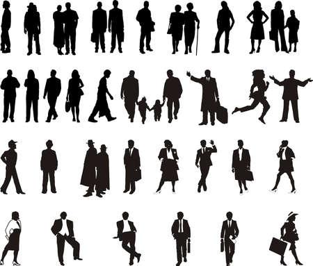 silhouette - black people