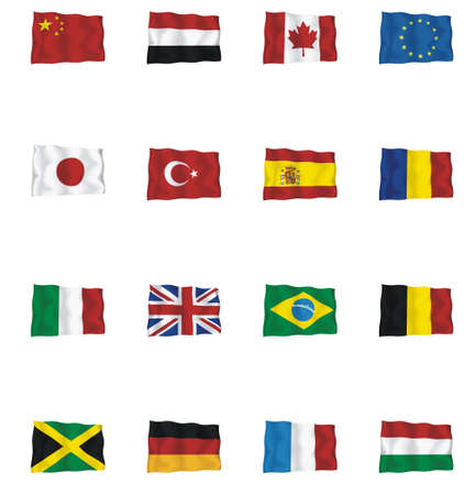 Set of vector flags - flag Illustration
