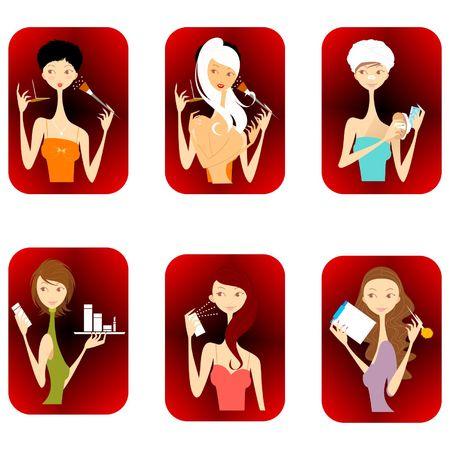 Mujeres de moda - ilustraci�n Vectores