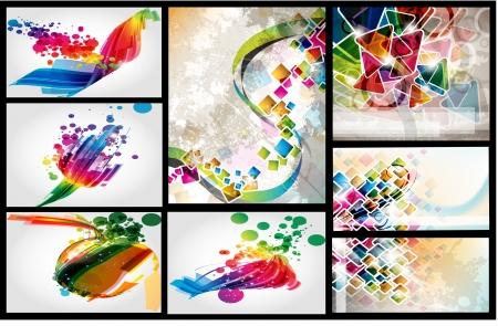 Set of vector layout colorful design Illustration
