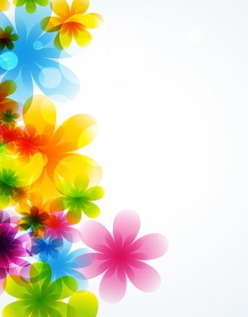 Flor de fondo plantilla de folleto Vectores