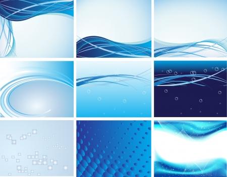 9 Clean futuristic vector design  Illustration