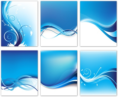 Abstract backgrounds set editable illustration  Vector