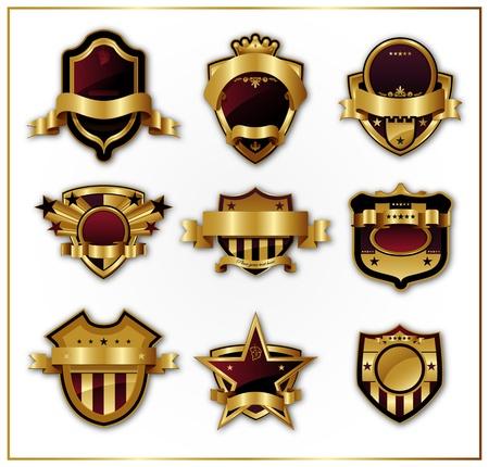 Decorativos marcos de oro adornado