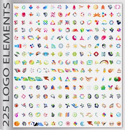 Conjunto de elementos abstractos para el dise�o del logotipo