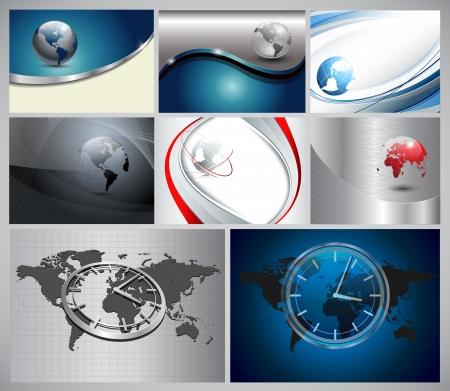 Abstract business background with earth and globe Vector