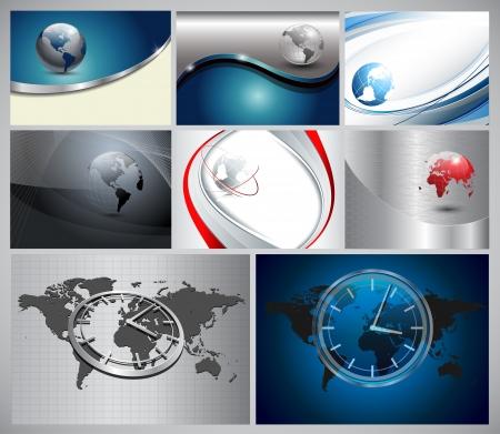 Fondo de negocio abstracto con la tierra y el mundo