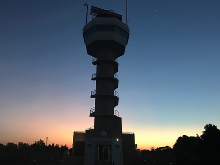 Picture of the secondary radar tower when the sun was gone. Reklamní fotografie