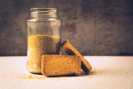 Homemade rusks! Enjoy the goodness of wheat! Stock Photo