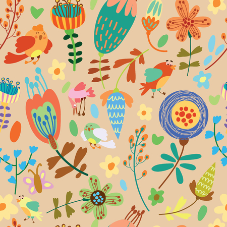 cute wallpaper: Cute seamless pattern.Bright Seamless pattern can be used for wallpaper, pattern fills, web page background,surface textures. Illustration