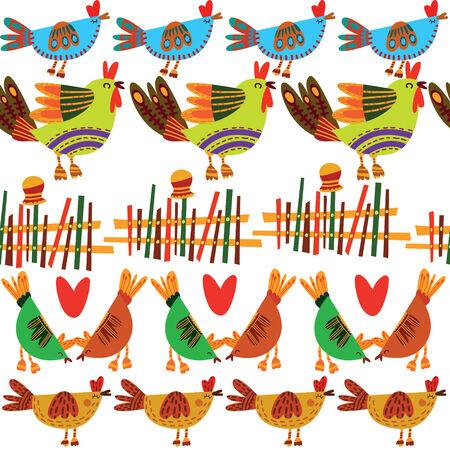 poult: Patr�n sin fisuras con los pollos lindos. Sin fisuras patr�n se puede utilizar para el papel pintado, patrones de relleno, fondos de p�ginas web, texturas superficiales.