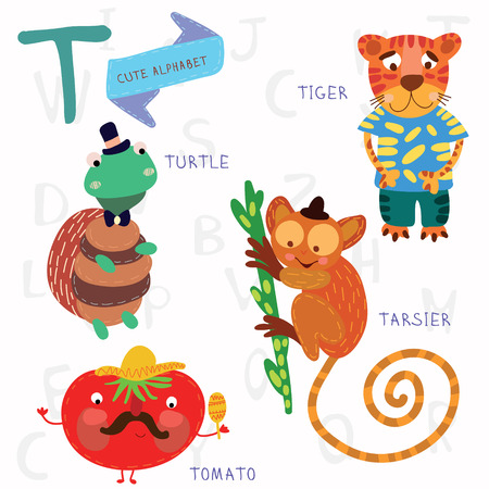 kids abc: Alphabet design in a colorful style. Illustration