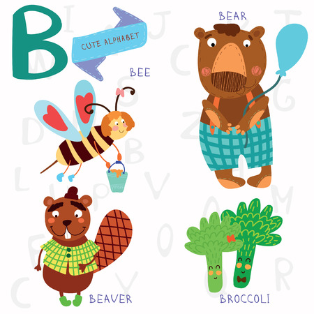 spelling book: Alphabet design in a colorful style. Illustration