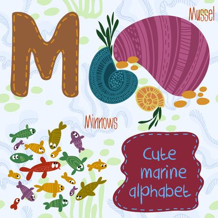 Mare molto carino Alphabet. Progettazione Alfabeto in uno stile colorato. Archivio Fotografico - 36793684